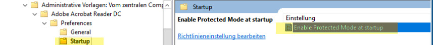 Disable protect mode GPO