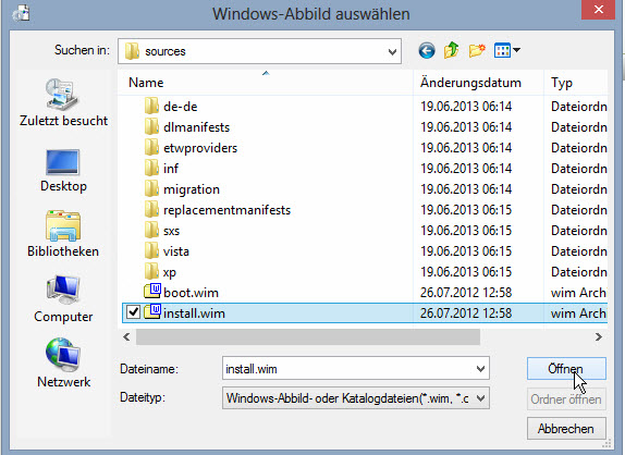 Antwortdateien erstellen mit dem Windows System Image